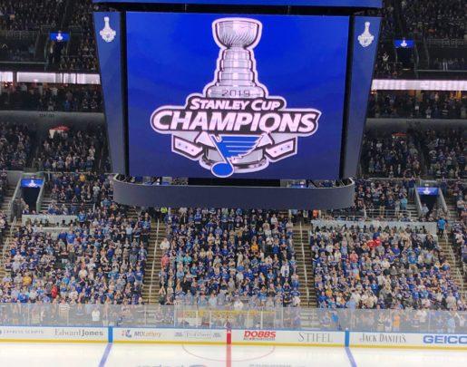 Enterprise Arena Center Ice Stanley Cup Banner